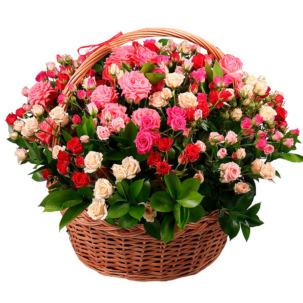 """Корзина с цветами """"Агата"""""""