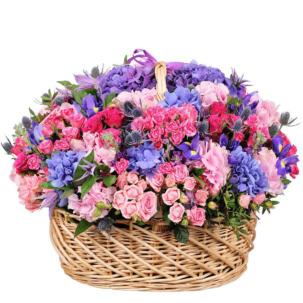 """Цветы в корзинке """"Сладкое пробуждение"""""""